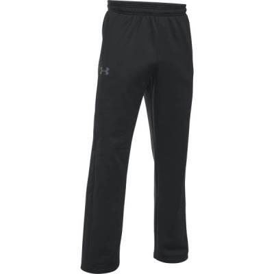 Men's UA Armour Fleece Icon Pants in Black