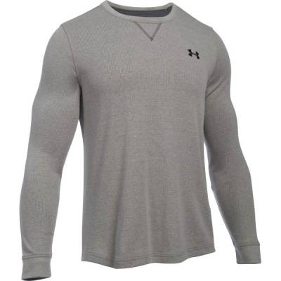 Men's UA Waffle Crew in Heather Carbon