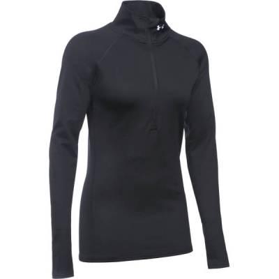 Women's UA ColdGear Infrared Evo Half Zip Sweater in Black