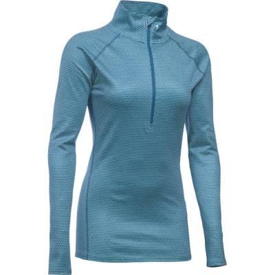 Women's UA ColdGear Infrared Evo Half Zip Sweater in Peacock