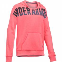 Under Armour Girl's UA Favorite Fleece Hoodie in Pink