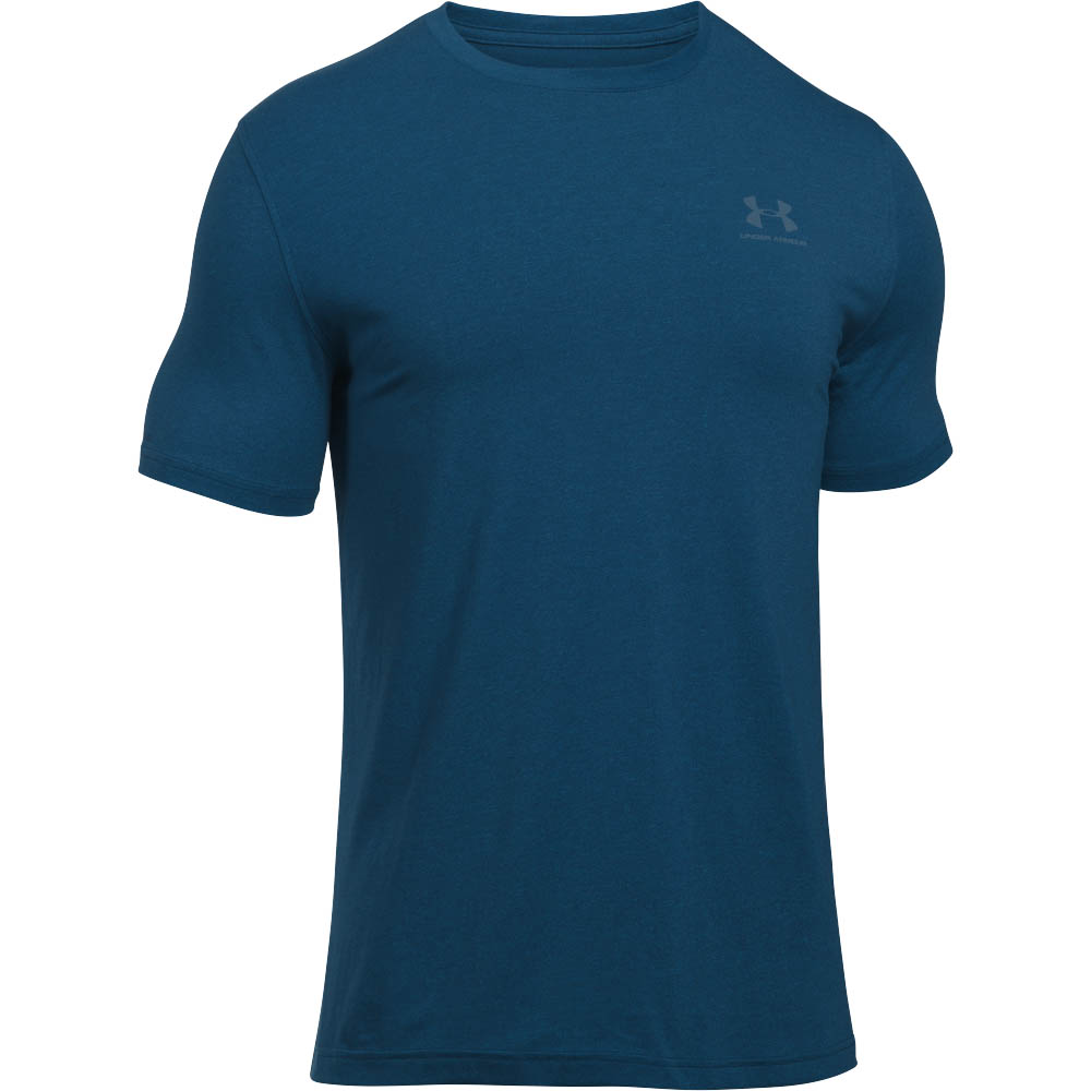 Under Armour Men's UA Charged Cotton Sportstyle Short Sleeve Tee in Navy Blue