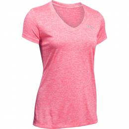 Under Armour Women's UA Tech V-Neck Twist Short Sleeve Tee in Pink