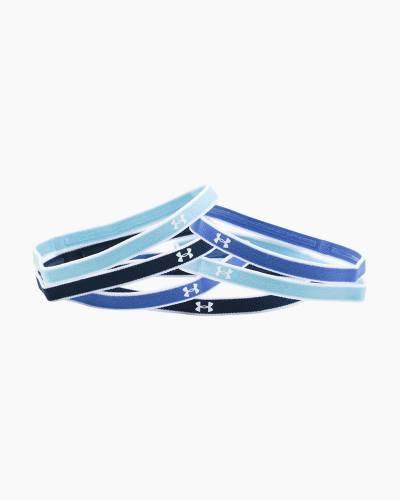 Girl's UA Mini Headbands in Blue (6-Pack)