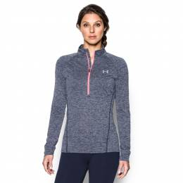 Under Armour Women's UA Tech Half Zip Jacket in Navy and Silver