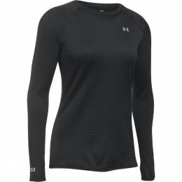 Under Armour Women's UA Base 2.0 Crew Long Sleeve Shirt in Black