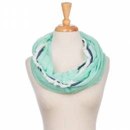 Laon Fashion Denim Trim Infinity Scarf