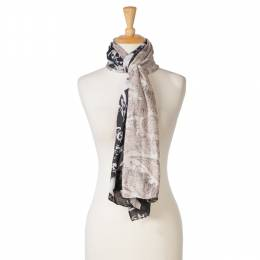 Laon Fashion Washed Out Floral Scarf