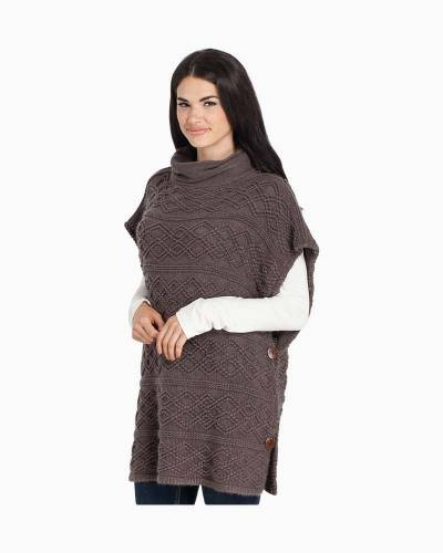 Cowl Neck Poncho in Grey