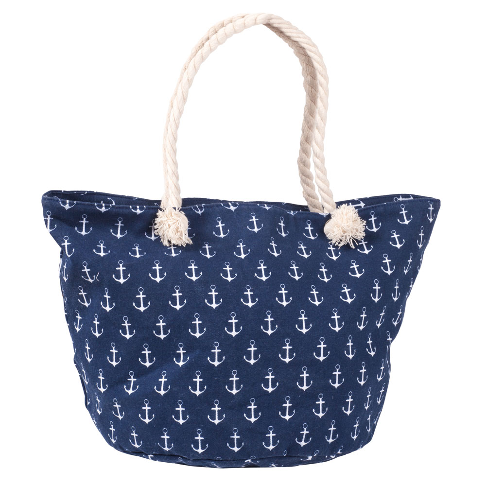 Laon Fashion Anchor Print Tote