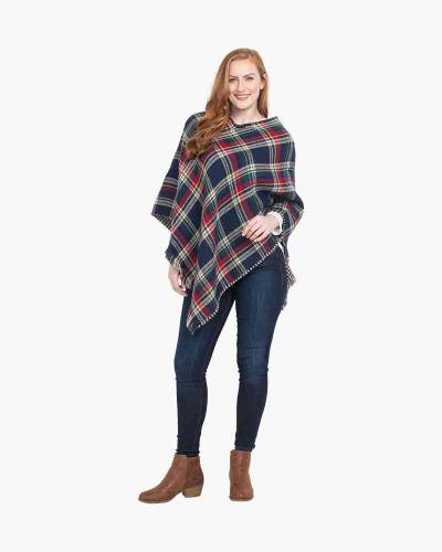 Reversible Plaid and Houndstooth Poncho