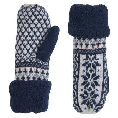Holiday Print Mittens