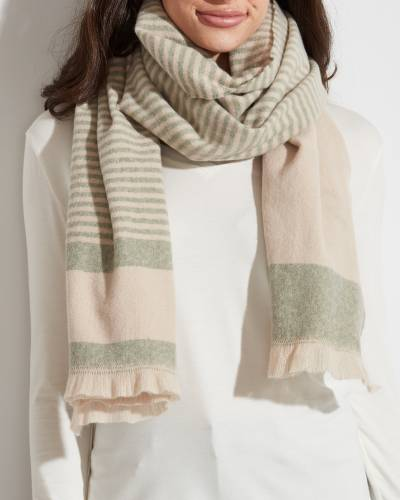 Wide Striped Scarf