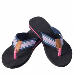 Next Step Pink Plaid Starfish Flip Flops