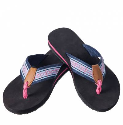 Pink Plaid Starfish Flip Flops