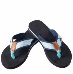 Mia + Tess Designs ™ Teal Sailboat Flip Flops