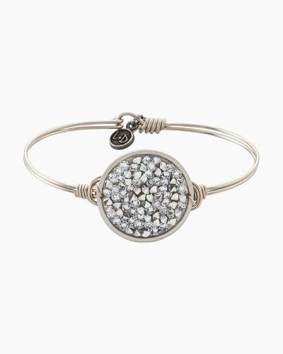Druzy Metallic Silver Regular Bangle in Silver