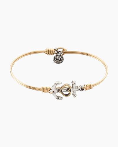 Anchor Regular Bangle in Brass