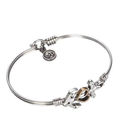 Anchor Regular Bangle in Silver