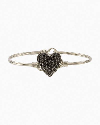 Angel Wing Heart Regular Bangle