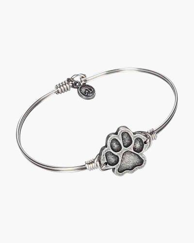 Paw Print Bangle in Silver