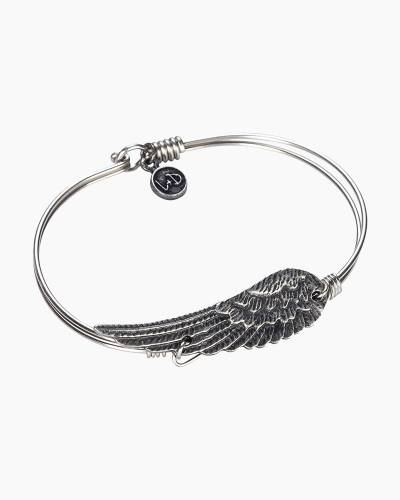 Angel Wing Bangle in Silver