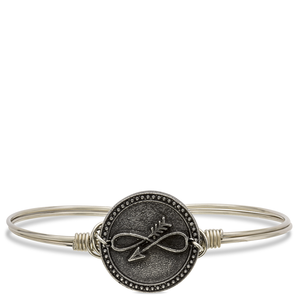 Luca Danni Embrace The Journey Bangle Bracelet In Silver