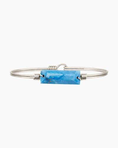 Hudson Bangle Bracelet in Dyed Turquoise Howlite
