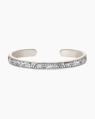Druzy Channel Cuff in Metallic Silver