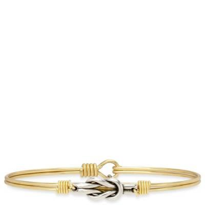 Love Knot Bangle Bracelet in Gold