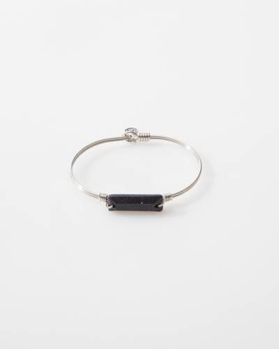 Hudson Bangle Bracelet in Goldstone