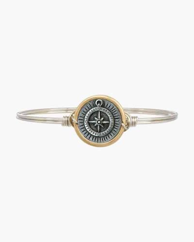 Compass Regular Two-Tone Bangle Bracelet