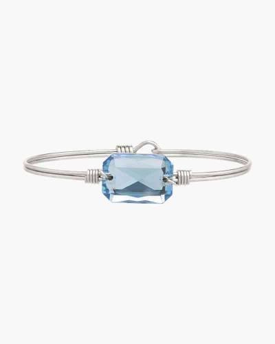 Dylan Regular Bangle Bracelet in Aqua