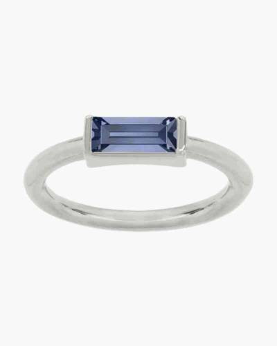 Majestic Blue Hudson Ring in Silver