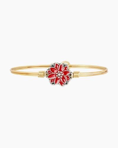 Poinsettia Bangle Bracelet