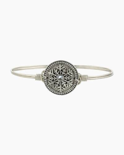 Snowflake Bangle Bracelet