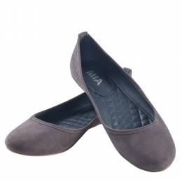 Mia Classic Ballet Flats in Charcoal
