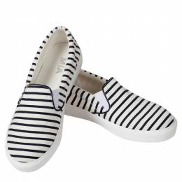Mia Stripe Slip-On Sneakers