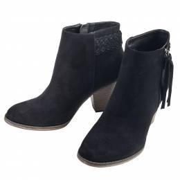 Mia Braided Bootie in Black