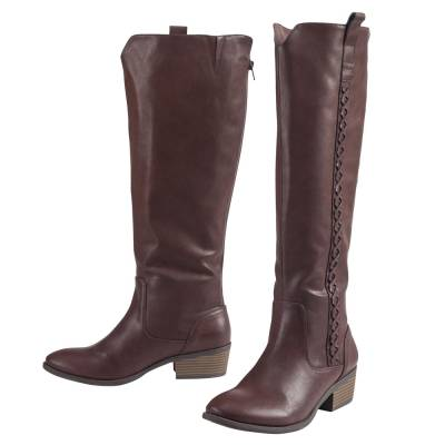 Cross-Stitched Boots in Brown (Classic Fall Boot)