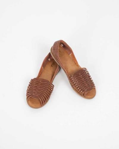 Cognac Open Toe Sandals