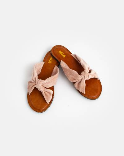 Blush Ribbon Knot Sandals