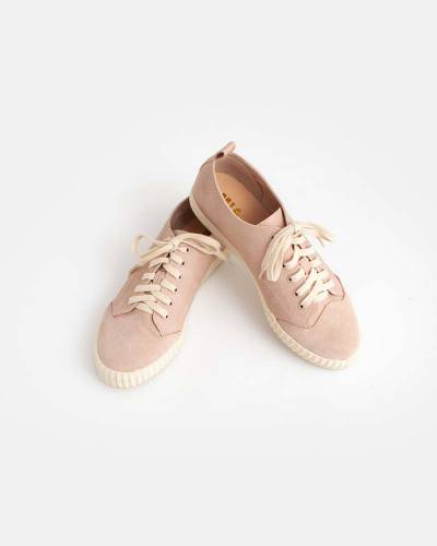 Pink Lace-Up Sneakers