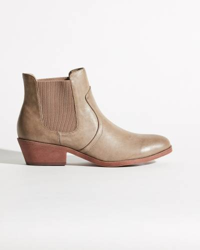 Galvin Slip-On Ankle Booties in Taupe