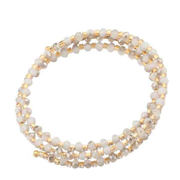 The Paper Store Coil Crystal Bead Bracelet
