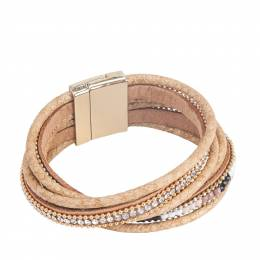 The Paper Store Magnetic Wrap Bracelet in Beige