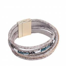 The Paper Store Magnetic Wrap Bracelet in Grey