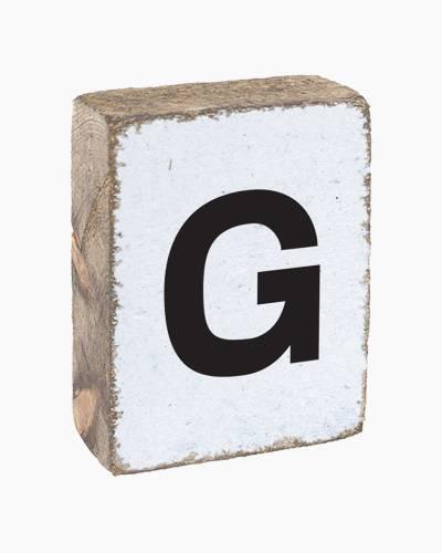 Antique White Letter G Block