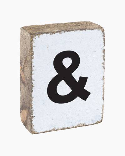 Antique White Ampersand Block