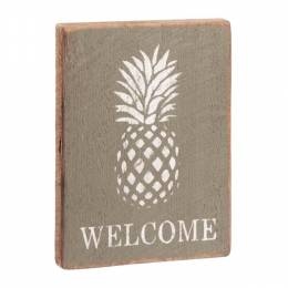 Rustic Marlin Pineapple Welcome Vintage Plank Sign